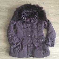 Down jacket winter fur naturalka