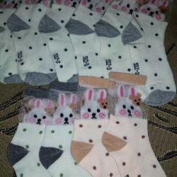 Kızlar için tavşanlı çoraplar