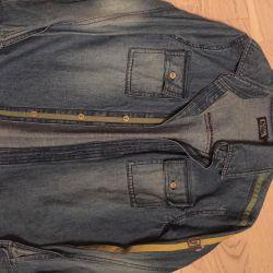 Рубашки на мальчика хлопок, джинса новые.