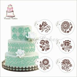 A set of stencils for decorating baking 6 pcs New