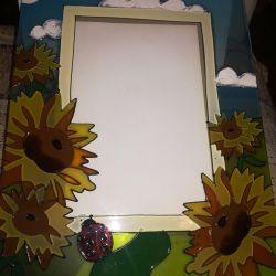 Стеклянная рамочка для фото