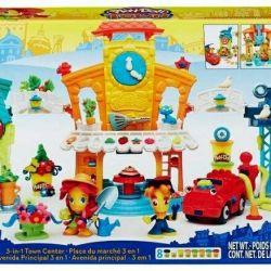 Yeni kil Play-Doh şehir ana caddesi kümesi