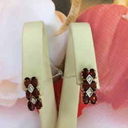 Χρυσά σκουλαρίκια με ρόδι