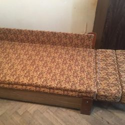 Folding sofa with drawer
