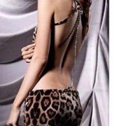 Новое сексуальное леопардовое мини платье