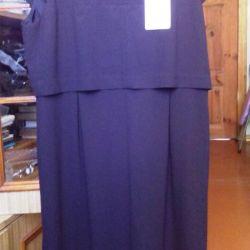 Siyah renkli yeni şık elbise çantası.
