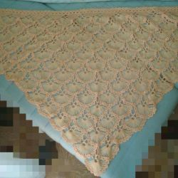 Shawl Handmade Wool / Acrylic