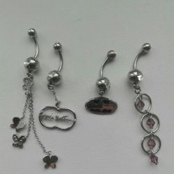 Piercing in navel silver all new
