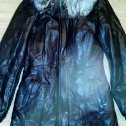 Winter Genuine Leather Coat 42-44