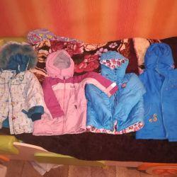 Куртки на девочку 134_128-122см.