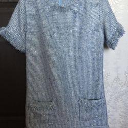 Chanel tarzında elbise tweed'den yeni