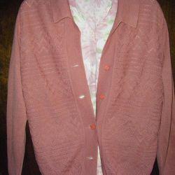 Jacket de lână și bluză de mătase 44