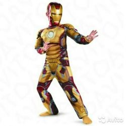 Suit Iron man with muscles.