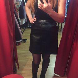Δερμάτινη φούστα Zara