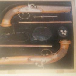 Tarih müzesinden tabanca düello yapmak.