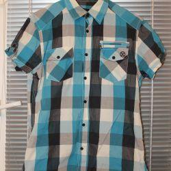 Новая рубашка в клеточку S размер
