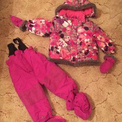 Куртка детская+п/комбинезон+варежки+пинетки