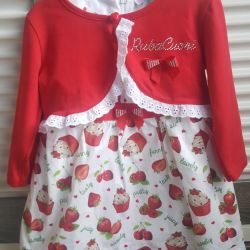 Нарядное платье детское новое 6-12мес