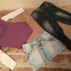 Clothes for the girl (size 128-134-140)