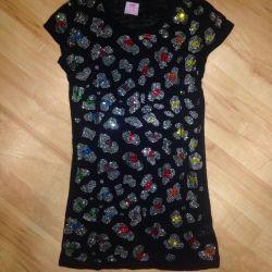Τζιν μπλουζάκι με στρας