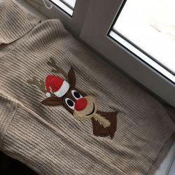 πουλόβερ ζεστό σακάκι με ελάφι koton τα Χριστούγεννα νέα