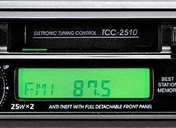 Araba radyo lg tcc-2510 yarı çalışan