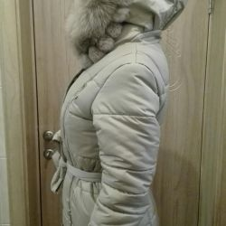 New Flash Geo Down Jacket with Real Fur