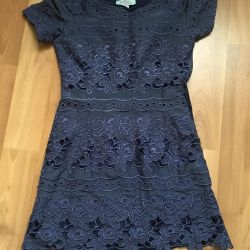 Lace dress. Cotton and silk.