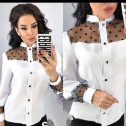 Блузка (рубашка) женская шифон 42-48 р.