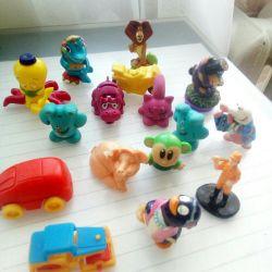 Many kinder toys