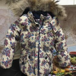 Very warm baby jacket on goose feather, Finnish