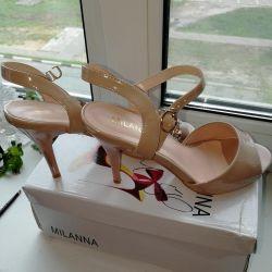 Beige shoes, varnish 39r.