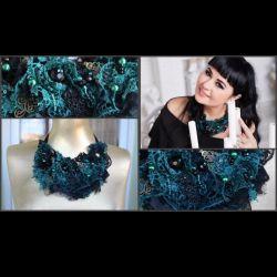 Designer jewelry necklace-collar