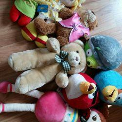 Stuffed Toys. Bear, Engry Birds, dolls, fairy