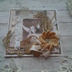 Handmade vintage card
