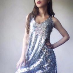 Dress from sequins