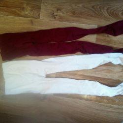 White tights, cherry