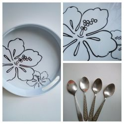 Tray, spoons sold