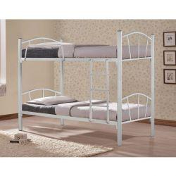 Yatak Ranzası Metalik Beyaz 90x190