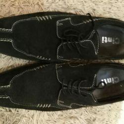 Туфли замша Италия