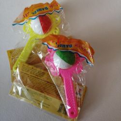 Rattles and toys for babies