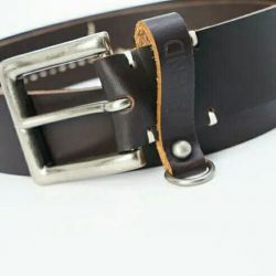 New men's belt, nat. Leather