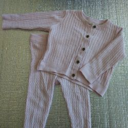Suit knitted Mothercare (sweater, pants) 74-80