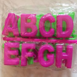 IS FREE. English alphabet and for games with sand.