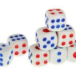 Joacă zaruri de 1,4 × 1,4 cm