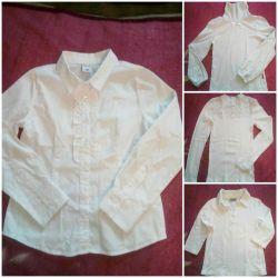 Шкільні сорочки на дівчинку 120-128
