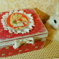 Casket decoupage handmade gifts handmade