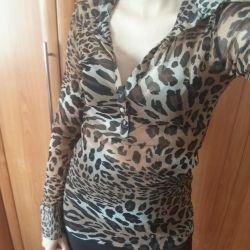 Leopar bluzu. bluz