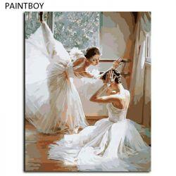 Pictura prin numere. balerină
