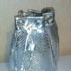 Disco silver metal handbag